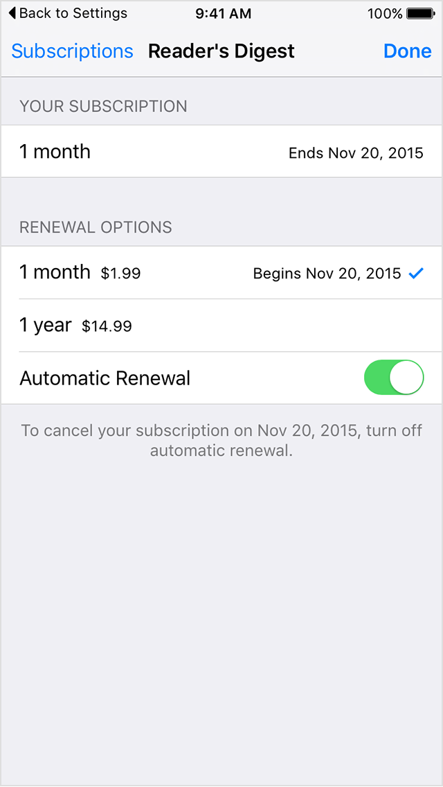 Iphone manage subscription Manage your